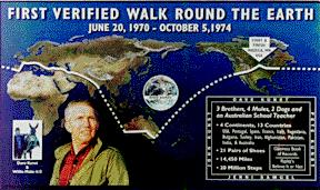 First Verified Walk Round the Earth Poster