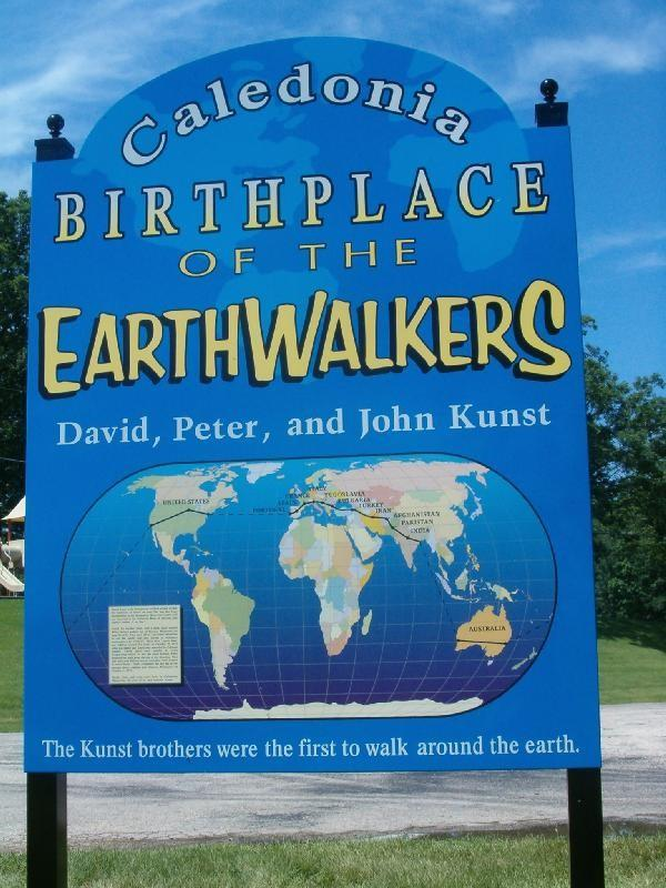 Earthwalkers sign in Caledonia, MN